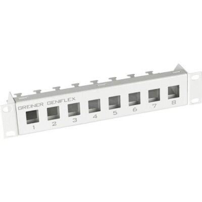Patchpanel Modular 8-Port, 1HE Farbe: RAL 7035